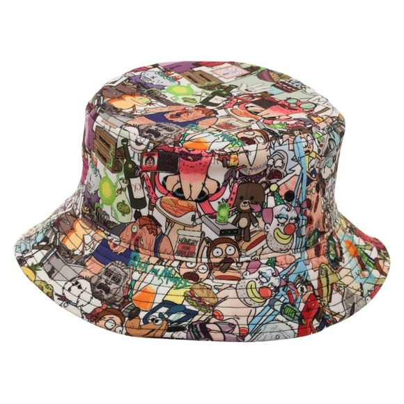 a1239af119b3a Rick and Morty Bucket Hat Characters All Over NEW